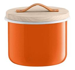 "LSA International Utility Container & Ash Lid, 7"", Pumpkin O"