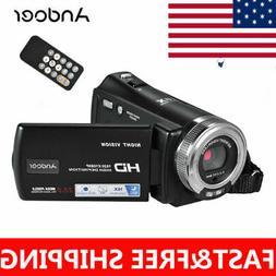 Andoer V12 1080P HD 16X Digital Zoom Recording Video Camera