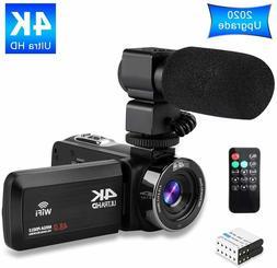 Video Camera 4K Camcorder Ultra HD Vlogging Camera for YouTu