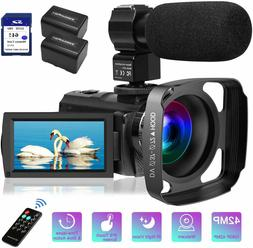 Video Camera Camcorder MELCAM 1080P 30FPS 24MP 3.0 Inch Scre