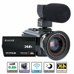Video Camera Camcorder 4K Ultra HD Digital WiFi Touch Screen