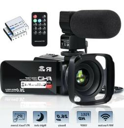 Video Camera Camcorder WiFi FHD 1080P 30FPS 26MP YouTube Vlo