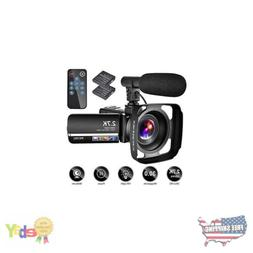 Video Camera Camcorder with Microphone YouTube Camera Record