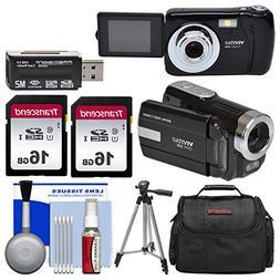 Vivitar ViviCam VXX14 Selfie Digital Camera & DVR-508 HD Cam