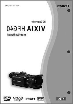 Canon VIXIA HF G40 Camcorder User Instruction Guide  Manual