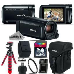 Canon VIXIA HF R 800 57x Live Streaming Camcorder + Case + 6