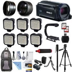 Canon VIXIA HF R600 HD Camcorder Video Camera 6 Lamps Lighti