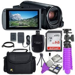 Canon VIXIA HF R80 Camcorder with Sandisk 64 GB SD Memory Ca