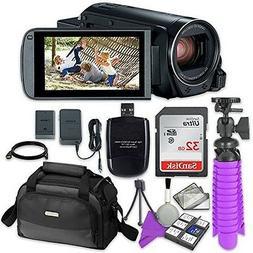 Canon VIXIA HF R800 Camcorder Sandisk 32 GB SD Memory Card +