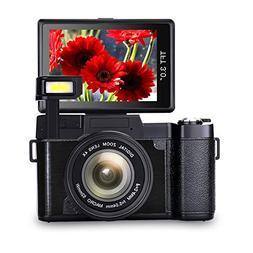 Vlogging Camera Full HD1080p 24.0MP Camera 3.0 Inch Flip Scr