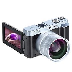 Digital Camera Vlogging Camera, Full HD 1080p 24.0MP VideoSk