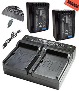 BM Premium 2 VW-VBT190 Batteries and Dual Battery Charger fo
