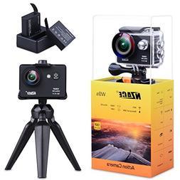 NZACE Action Camera 1080P, Ultra HD WiFi Waterproof 170 Degr