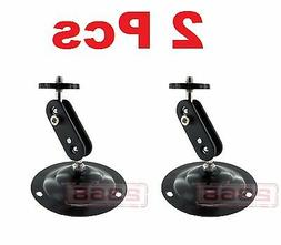2 Pcs Wall Mount Round Base Flexible Bracket Stand for CCTV