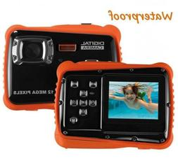 Waterproof Digital Camera for Kids, LINNNZI 12MP HD Underwat