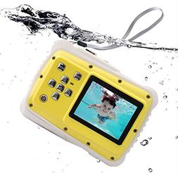 Waterproof Kids Digital Camera, Underwater Action Camera wit