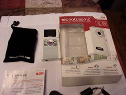 White RCA Small Wonder Camcorder EZ201A Pocket Size Handheld