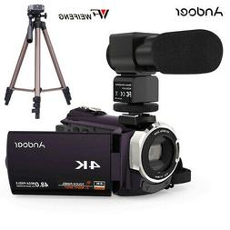 WiFi 4K 48MP 16X ZOOM Digital Video Camera Camcorder DV IR M