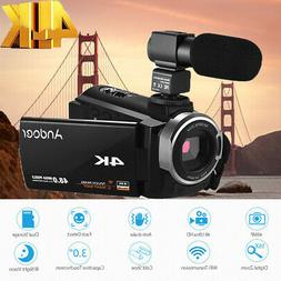 Andoer WiFi 4K UHD 1080P 48MP Digital Video Camera Camcorder