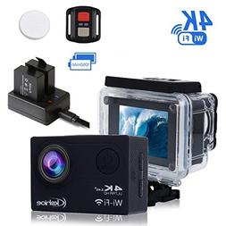 Kshioe 4K WIFI Sports Action Camera,16MP 170°Wide Angle LCD