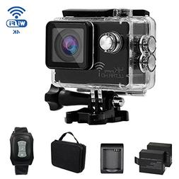 KAMRE 4K WIFI Sports Action Camera Waterproof DV Camcorder w