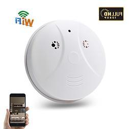 Wifi Hidden Spy Camera, Mini Smoke Detector Cam HD 1080P, TA