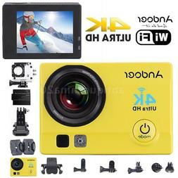 "WiFi 4K HD 1080P 2"" LCD Waterproof Sport DV Action Camera Vi"