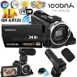 WiFi 4K HD 1080P 48MP 16X ZOOM Digital Video Camera Camcorde