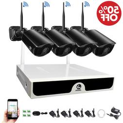 Wireless WIFI 1080P Security Camera System HD-MI 4CH NVR Out