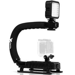 Opteka X-GRIP Pro Camera Stabilizing Handle with LED Light f