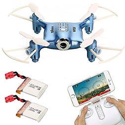 Syma X21W WIFI FPV Mini Drone with Extra 2 pcs Batteries 2.4