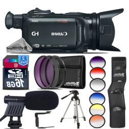 Canon XA15 Professional Camcorder + Shotgun Mic + Rotating B