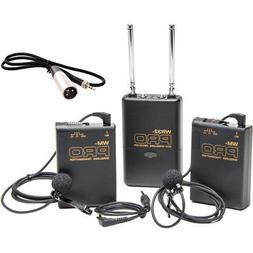 Pro XF405 W2LM DC XLR 2 wireless lavalier mic for Canon XF70