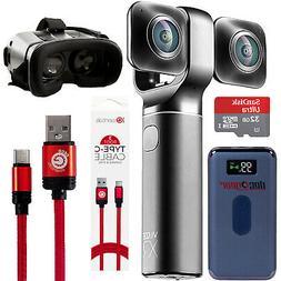 Vuze XR 4K 3D 360 VR Dual Camera w/ 4-Piece Virtual Reality