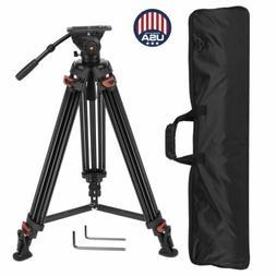 "XTK-8018 70"" Pro Heavy Duty Video Camcorder DV Camera Tripod"