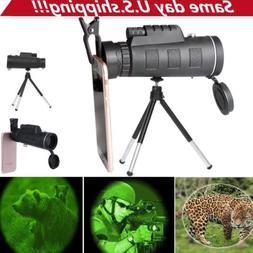 40X60 Zoom Optical HD Lens Monocular Telescope + Tripod + Cl